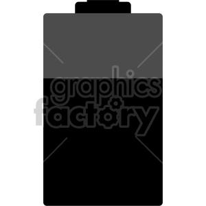 battery vector design clipart. Royalty-free image # 408469