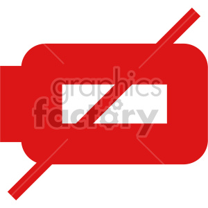 battery dead red icon clipart. Commercial use image # 408471