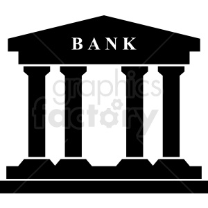 bank icon clipart. Royalty-free image # 408506