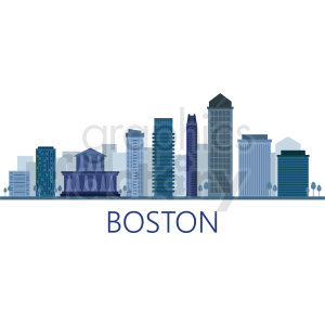 boston city skyline vector clipart. Royalty-free image # 408509