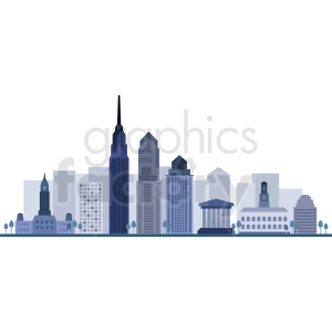 philadelphia city skyline vector clipart. Royalty-free image # 408576