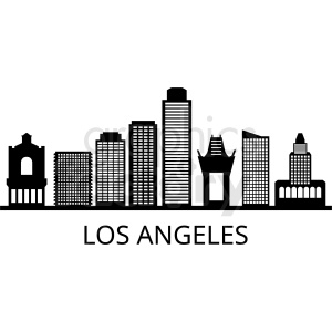 black los angeles vector clipart. Commercial use image # 408589