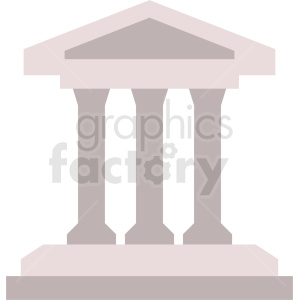 museum building vector icon no background clipart. Royalty-free image # 408631