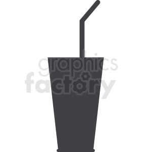 soda cup with straw design clipart. Royalty-free image # 408661