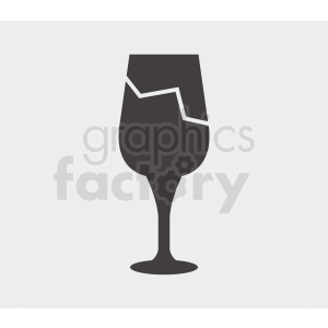 cracked wine glass clipart. Commercial use image # 408679