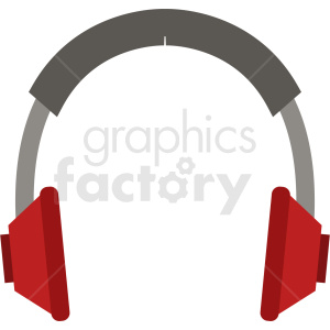 cartoon headphones vector