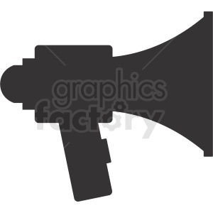black megaphone vector icon