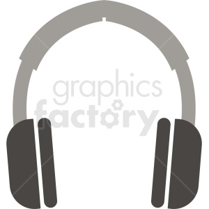 gray headphones icon clipart. Royalty-free image # 408711