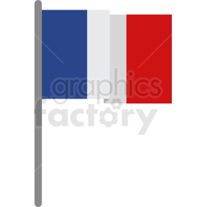 france flag flat vector clipart. Royalty-free image # 408761