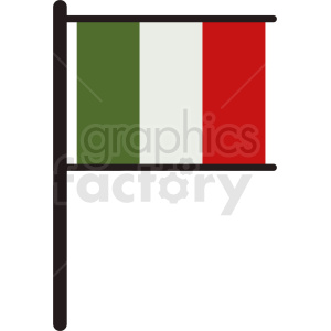 italian flag symbol clipart. Commercial use image # 408796