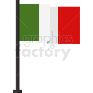 square itay flag icon design clipart. Royalty-free image # 408841