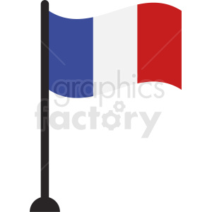 france flag pole icon clipart. Royalty-free image # 408854
