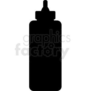 ketchup bottle silhouette clipart. Commercial use image # 408876