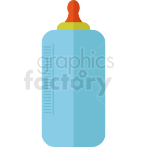 cartoon baby bottle clipart. Royalty-free image # 408896