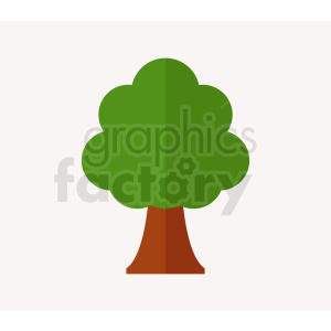cartoon tree on light gray background