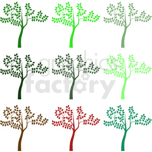 nine trees design clipart. Commercial use image # 408939