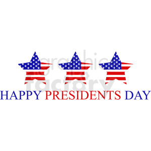 happy presidents day vector design clipart. Commercial use image # 409009