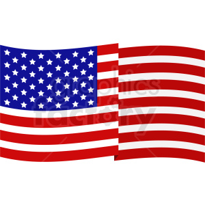 american flag vector design clipart. Royalty-free image # 409039