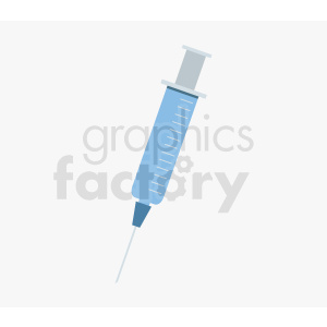 blue syringe on light background clipart. Royalty-free image # 409062