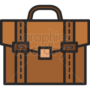 work briefcase vector icon clipart. Royalty-free image # 409069