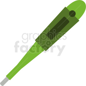 green digital thermometer vector clipart. Royalty-free image # 409072