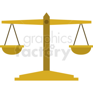 justice and order scale vector clipart. Commercial use image # 409074