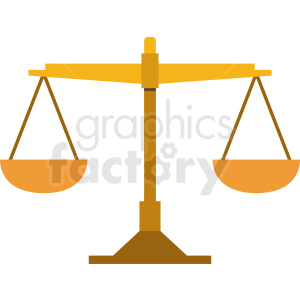 justice scale vector clipart. Royalty-free image # 409079