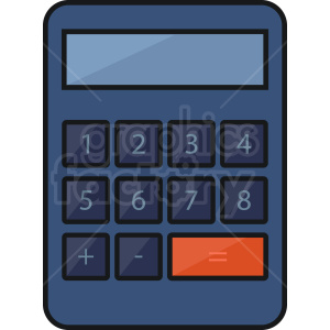 vector calculator clipart. Royalty-free image # 409102