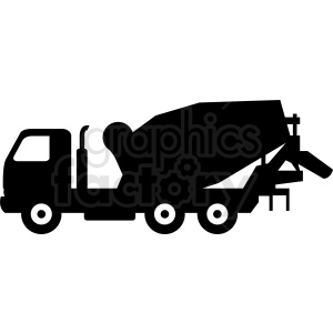 cement truck vector clipart. Royalty-free image # 409129