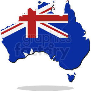 australian country outline vector clipart. Royalty-free image # 409142