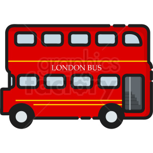 london bus icon clipart. Commercial use icon # 409172