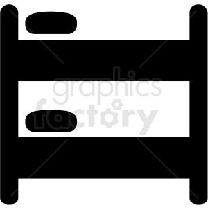 bunk bed icon vector clipart. Royalty-free icon # 409203