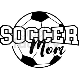 soccer mom with ball vector cut file