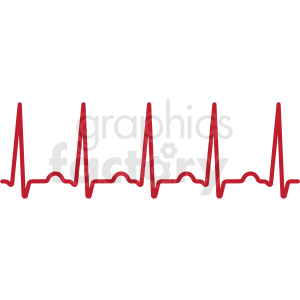 heartbeat ekg svg cut file clipart. Royalty-free image # 409227