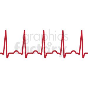 heartbeat ekg svg cut file