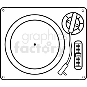 turntable vector icon clipart. Royalty-free image # 409245