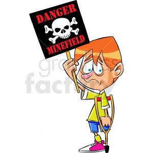 cartoon protestor protesting weapons of war clipart. Royalty-free image # 409313