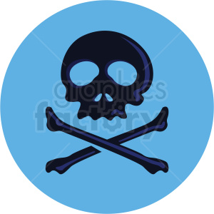 skull vector clipart on blue background clipart. Commercial use image # 409404