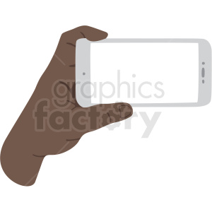 african american hand holding phone vector clipart clipart. Royalty-free image # 409461