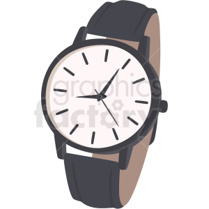 vector wrist watch no background