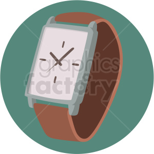wrist watch on circle background clipart. Royalty-free image # 409467
