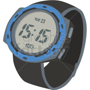 sport wrist watch with blue no background clipart. Royalty-free image # 409475