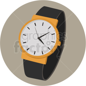 watch on circle background clipart. Royalty-free image # 409479