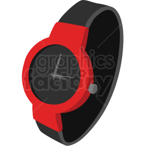 red watch no background clipart. Royalty-free image # 409498