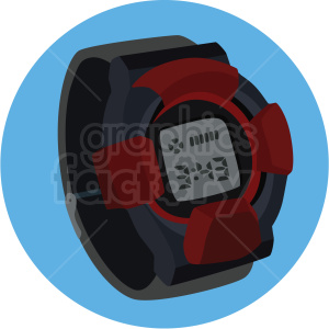 vector gshock wrist watch blue background clipart. Commercial use image # 409499