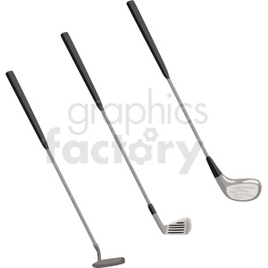 golf clubs vector clipart clipart. Commercial use image # 409508