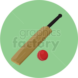 cricket bat and ball vector clipart on green background clipart. Royalty-free image # 409549