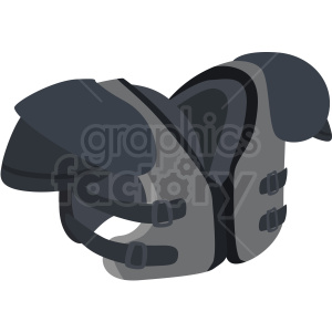 football shoulder pads vector clipart no background