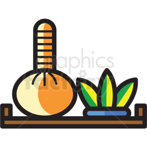 spa tray vector icon clipart clipart. Royalty-free image # 409606