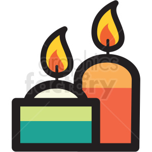 candles vector icon clipart clipart. Royalty-free image # 409625